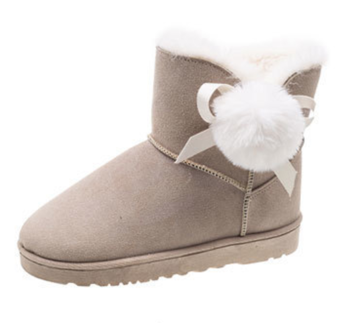 Snow boots women's style 2019 slim warm boots skid-proof and warm suede wool <font><b>snowball</b></font> boots skid-proof image