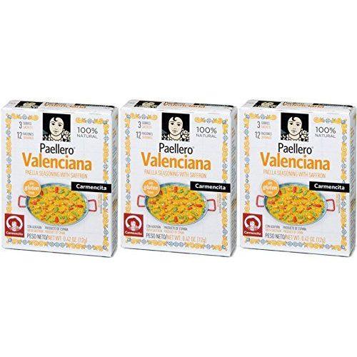 Carmencita Paellero Valenciana Paella Spice Mix 12 Gr. - [Pack 3]