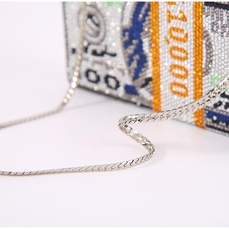 Toyoosky quente-fixo cristais mulher $100 dólares dinheiro