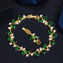 AAA Zircon Bracelets Arrival White CZ Stones Flower Charm for Women Fashion Wedding Jewelry