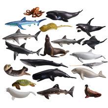 Favor-Toy Model-Figurines Topper Whales Cake Sharks Mini Animals for Kids Octopus Party