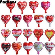 10 teile/los 10 zoll herz luftballons hochzeit valentinstag Tage TE AMO Aluminium folie helium globos hochzeit geburtstag dekoration globos