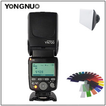 YONGNUO YN720 Flash Speedlite Wireless Flash Master Slave Speedlite GN60 LCD Display W/Battery for Canon Nikon Sony DSLR Camera