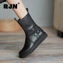 Rjn/женская обувь; Ботинки челси; Удобная обувь из натуральной