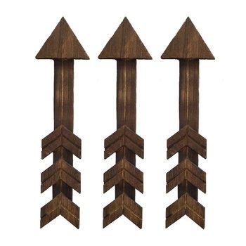 3 sztuk drewniane strzałka dekoracje ścienne znak strzałka kafejka internetowa restauracja ściana sklepowa wisiorek sypialnia dekoracje ścienne tanie i dobre opinie CN (pochodzenie)