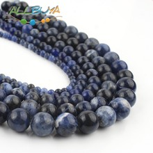 Round  Old Blue Sodalite Jaspers Stone Beads 2/3/4/6/8/10/12mm Natural stone Beads For Jewelry Making DIY Necklace Bracelet 15'' 1strand lot 4 6 8 10 12 mm natural stone old blue sodalite round loose spacer beads for jewelry making diy bracelet wholesale