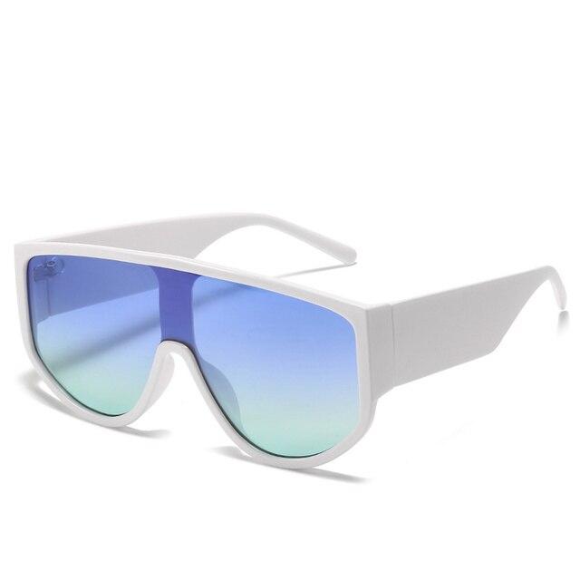 Купить новейшие трендовые цельные солнцезащитные очки большого размера картинки цена