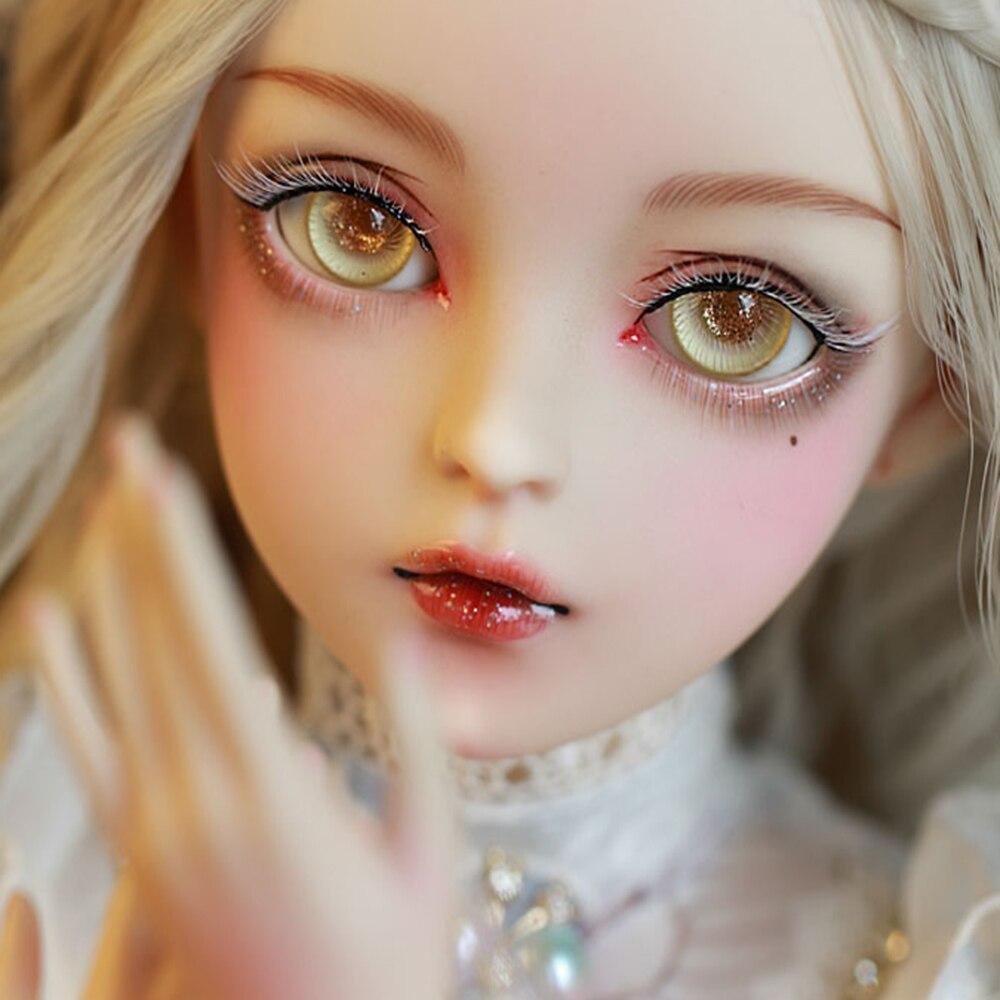 EVA BJD 1/3 Снежный дух BJD кукла ручной работы макияж 24 дюйма 60 см + стеклянные глаза + аксессуары парики одежда обувь свадебный подарок игрушка - 4