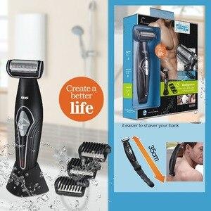 Image 1 - Profesyonel elektrikli tıraş makinesi saç giyotin vücut groomeing yüz tıraş makinesi elektrikli razor sakal düzeltici erkekler için vücut geri kiti