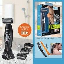 Rasoio elettrico professionale dei capelli trimmer corpo groomeing viso macchina da barba rasoio elettrico barba trimero per gli uomini del corpo posteriore kit