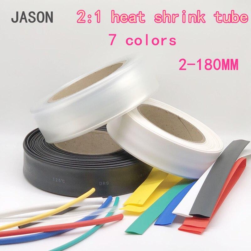 1 metro tubo termoencolhível termoretractil psiquiatra heatshrink tubo sleeving envoltório fio vender diy conector