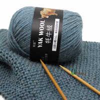 5pcs Yak Wool Yarn for Knitting Fine Worsted Blended Crochet Yarn Knitting Sweater Scarf 500/lot