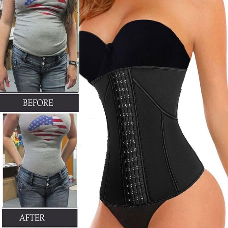 Women Waist Trainer Neoprene Belt Weight Loss Cincher Body Shaper Tummy Control Strap Slimming Sweat Fat Burning Girdle