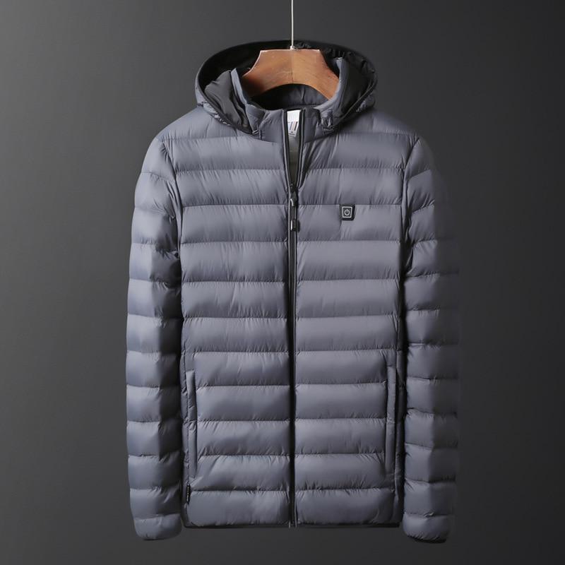 casaco usb bateria elétrica mangas compridas aquecimento