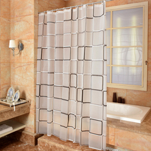 EHOMEBUY2019 New Classic Square Shower Curtain Waterproof Mildewproof Translucent PEVA For Bathroom Room