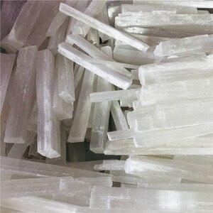 4 шт., натуральный белый селенит, гипс с неровными минералами рейки, лечебный кристаллический стержень