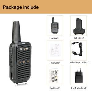 Image 5 - Retevis RT15 Mini Walkie Talkie 2 sztuk przenośny dwukierunkowy stacji radiowej UHF VOX USB do ładowania Transceiver komunikator walkie talkie
