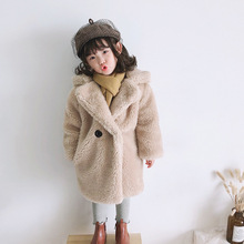 2T to 12 Years Girls Jacket Winter Baby Warm Coat  Faux Fur 2020 New Toddler Clothes Plus Velvet Children Outfit Thicken,#5728