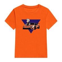 Crianças 100% algodão t camisas merch a4 lamba impressão casual conjunto de roupas de família menino & menina moda topos