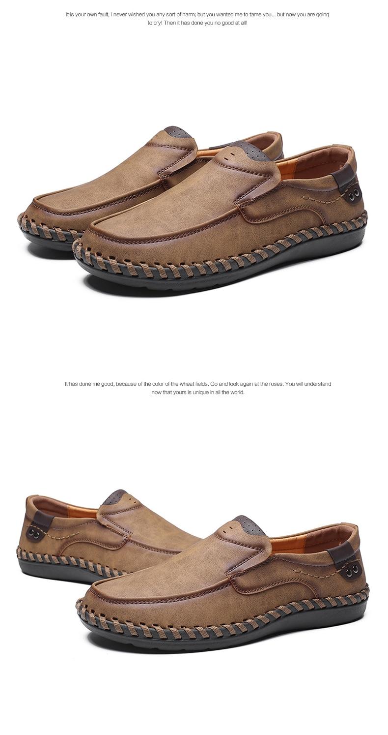 US $16.97 40% OFF|Handarbeit Aus Echtem Leder Herren Schuhe Casual Luxury Marke Männer Müßiggänger Fashion Atmungs Driving Schuhe Slip on Mokassins