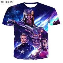 JOH FIERS 2019 New design t shirt men/women The Avengers Endgame 3D print t-shirts Short sleeve Harajuku style tshirt tops 6XL
