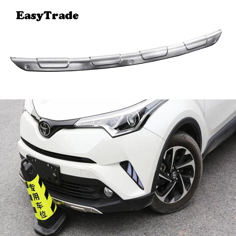Panneau de protection de pare-chocs de plaque de protection avant et arrière de voiture d'acier inoxydable pour Toyota C-HR CHR 2016 2017 2018 accessoires extérieurs de voiture