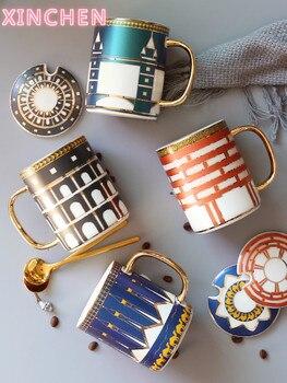 Porselein Britse Koffie Kop En Schotel Luxe Royal Bone China Tazas De Ceramica Creativas Porselein Espresso Cup Luxe 350ml