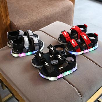 Chłopięce sandały miękkie dno dziecięce buty na plażę sandały dziecięce dziecięce wygodne sandały dziewczęce buty na plażę dziecięce casualowe sandały tanie i dobre opinie EFKGH RUBBER Miękka skóra Płaskie Obcasy Hook loop Mieszane kolor Ankle wrap Unisex Mieszkanie z Beach Shoes Breathable Lightweight Non-Slip Wear-Resistant