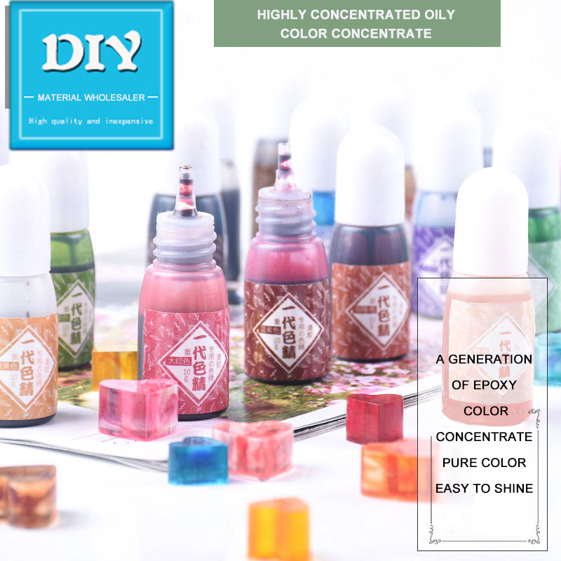 10g 24 Color Liquid Chroma Color Resin Pigments Rit UV Resin Epoxy Resin Children DIY Making Crafts Jewelry Making Accessories