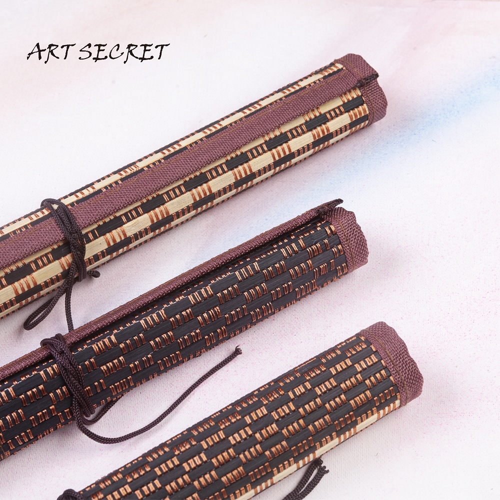 BT-03/04/05 High Quality Painting Brush Holder Bamboo Rolling Bag Calligraphy Pen Case Curtain Pack