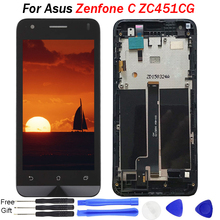 купить For Asus Zenfone C ZC451CG LCD Display Z007 touch Screen Digitizer Assembly Phone Panel Replacement Parts for Asus ZC451CG LCD дешево