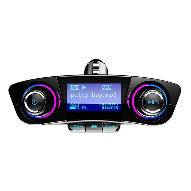 Автомобильный комплект громкой связи беспроводной Bluetooth fm-передатчик светодиодный аудио mp3-плеер двойной USB зарядное устройство FM TF Aux в мод...