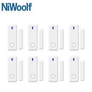 Closed-Detector Megnet-Sensor Home-Burglar-Alarm-System Door-Open NIWOOLF Wireless 433mhz