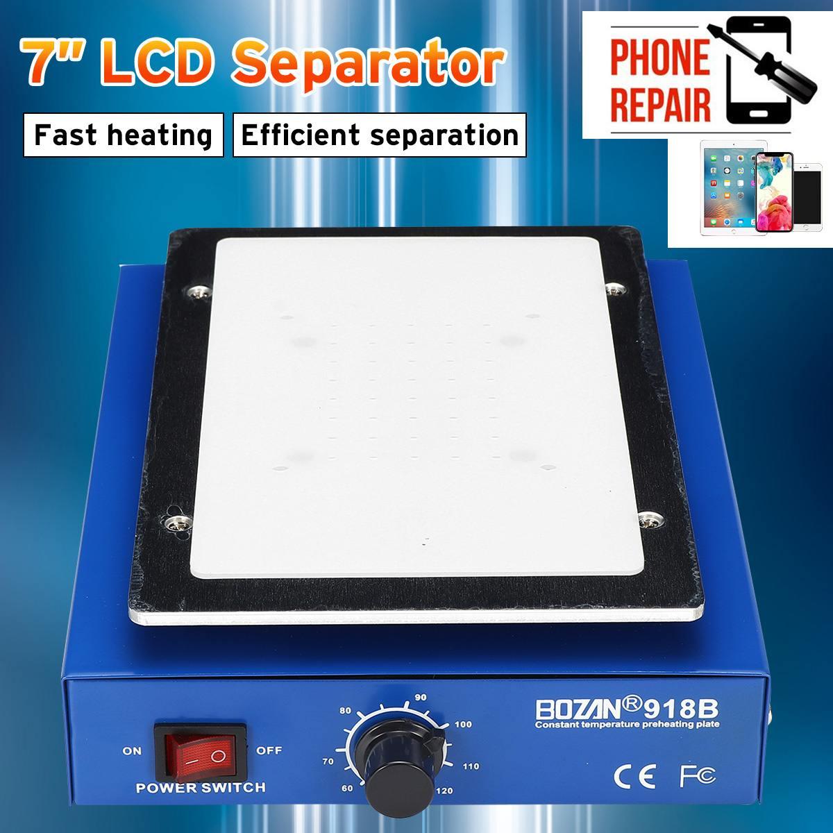 LCD Screen Separator Phone Heating Platform Plate Glass Removal Repair Machine 450W Anti Static Body Auto Heating Metal Plate