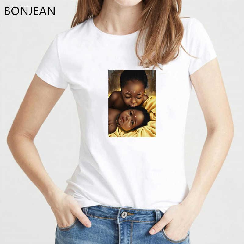 סופר אמא tshirt נשים מלנין poppin חולצה בציר חולצה harajuku חולצה קוריאני סגנון בגדי נקבה חולצה חולצות streetwear