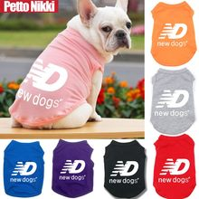 Summer Pet Dog Dog Vest Brand New Dogs Pet Clothes For Puppy Breathable T-shirt Vest For Small Medium Dogs Bulldog Pug Outdoor