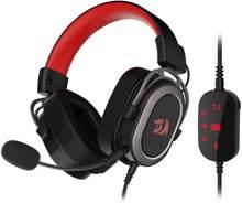 Redragon H710 Helios USB verdrahtete spiel headset 7,1 Surround sound speicher schaum ear pad 50mm stick abnehmbare mikrofon mit PC/PS4