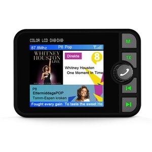 Image 2 - Mini DAB dijital radyo alıcısı Bluetooth MP3 müzik çalar FM verici adaptörü için renkli LCD ekran araba aksesuarları