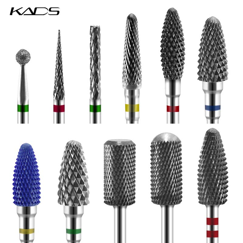 KADS 26 Type Nail File Electric Nail Drill Bit Manicure Machine Alloy&Ceramic&Diamond Rotate Burr Milling Cutter Nail Drilling