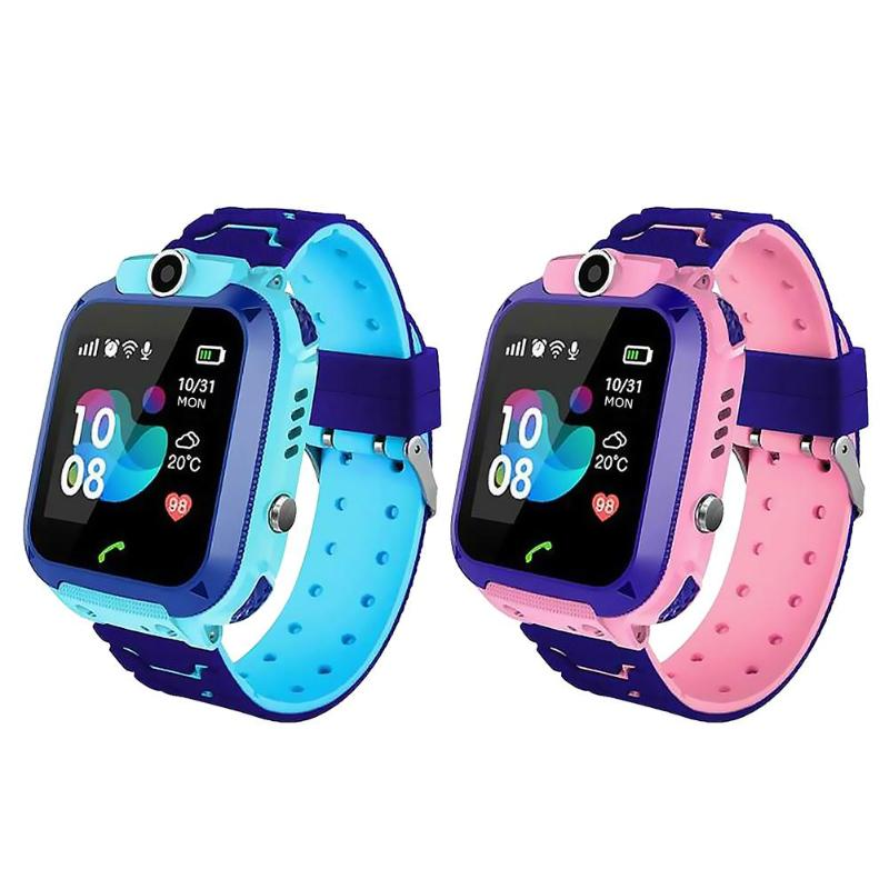 Kids Smart Watch Kids 4G Wifi GPS Tracker Child Watch Phone Digital SOS Alarm Clock Camera Phone Watch For Children Q12