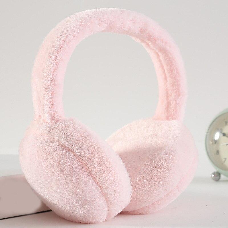 Unisex Foldable Faux Fur Winter Earmuffs Solid Color Plush Ear Warmer Headband Women Cute Protable Warm Earmuffs High Quality