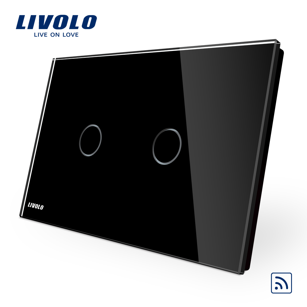 Image 5 - Livolo AU US C9 standard  Wireless Switch,Black Glass Panel Touch Screen, Dimmer and Remote Home Wall Light Switch,dim up downhome switchlivolo glass dimmertouch light switches dimmer -