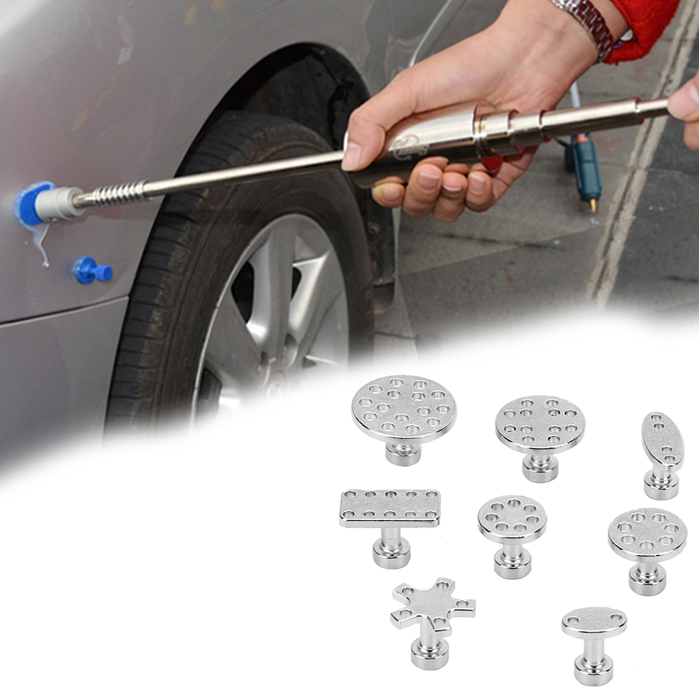 LEEPEE Special Suction Cup For Sheet Metal Zinc Alloy Gasket Remover Tools 8 pcs Car dent repair puller