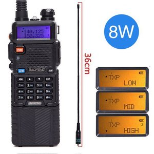 Image 3 - Baofeng UV 5R 8W Walkie Talkie güçlü 3800 mAh 10km 50km uzun menzilli UV5r çift bant iki yönlü cb radyo ar 152 taktik anten