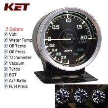 Defi A1 2,5 дюймов 60 мм 7 цветов Defi измерительные приборы температура воды и масла Температура турбонаддува давления масла Ext температура воздуха топливного соотношения AFR