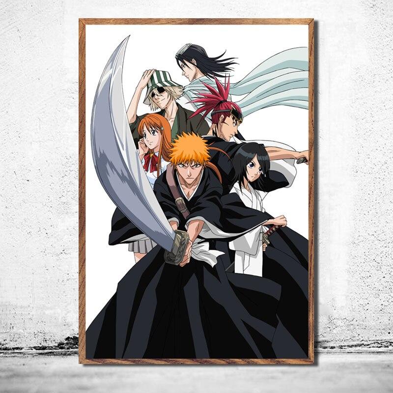BLEACH Japanese Anime Silk Poster Kurosaki ichigo 12x18 24x36 inch 002