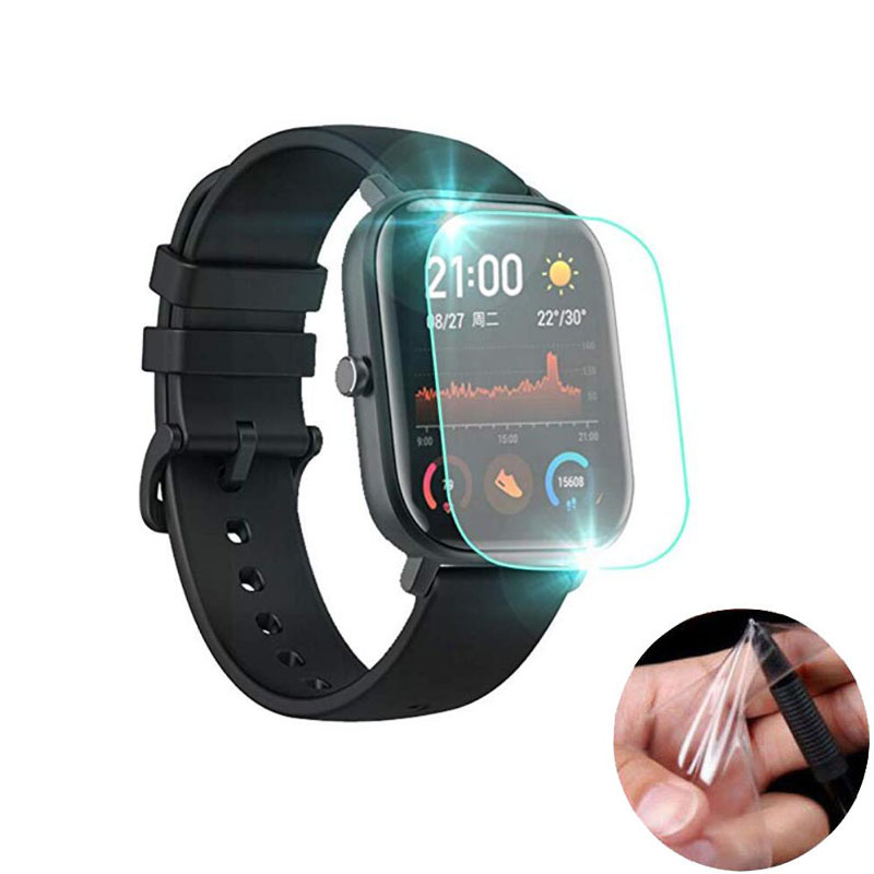 5pcs Soft TPU Clear Smartwatch Protective Film Guard For Xiaomi Huami Amazfit GTS Sport Smart Watch Full Screen Protector Cover