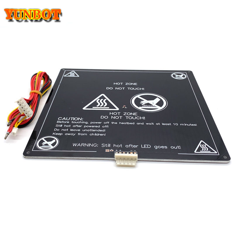3D Printer Parts  black MK3 220 220 3MM heatbed latest Aluminum heated bed for Hot-bed Support 12V180W 3d printer accessrioes
