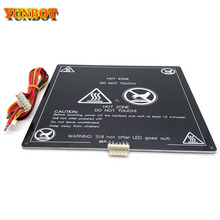 цена на 3D Printer Parts  black MK3 220*220*3MM heatbed latest Aluminum heated bed for Hot-bed Support 12V180W 3d printer accessrioes