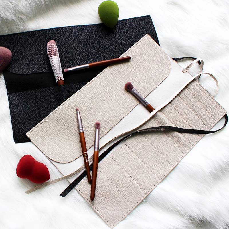 Cosmetic Bag <font><b>Makeup</b></font> Brushes <font><b>Case</b></font> Portable Bag for Make Up Brush Travel Organizer Rolling Pouch Holder Professional Beauty Tool image